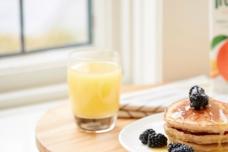 Yuletide Orange Graham Pancakes with Orange Syrup